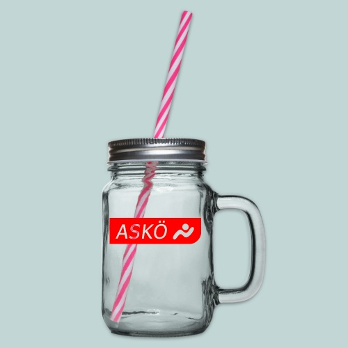 askoelogo1 - Henkelglas mit Schraubdeckel