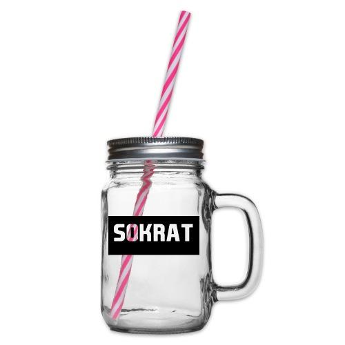 sokart paskali - Glass jar with handle and screw cap