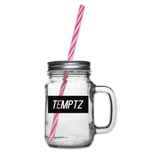 TempTz Orignial Hoodie Design - Glass jar with handle and screw cap