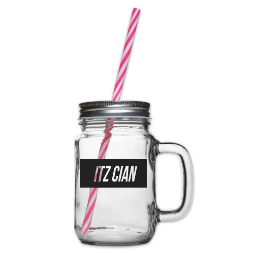 ITZ CIAN RECTANGLE - Glass jar with handle and screw cap