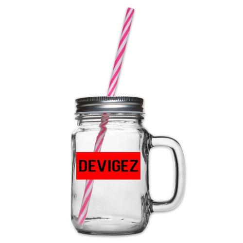 devigez original - Glas med handtag och skruvlock