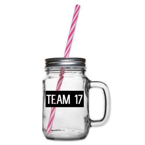 Team17 - Glass jar with handle and screw cap