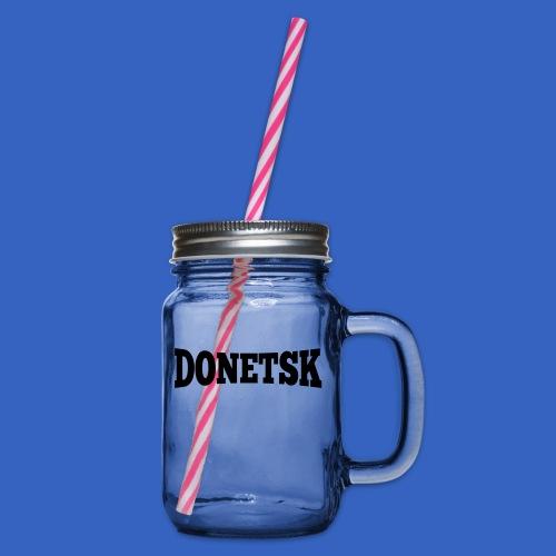 Donetsk - Henkelglas mit Schraubdeckel