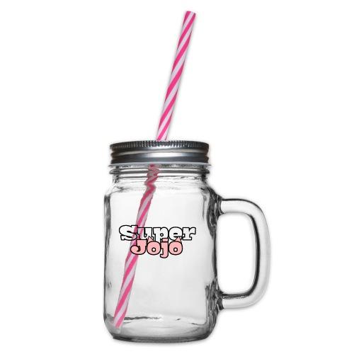 SuperJojo - Glass jar with handle and screw cap