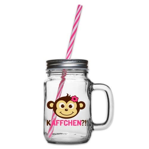 Monkey Käffchen Girl 3 - Henkelglas mit Schraubdeckel