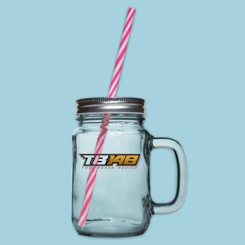 Tobi Logo Grau - Henkelglas mit Schraubdeckel