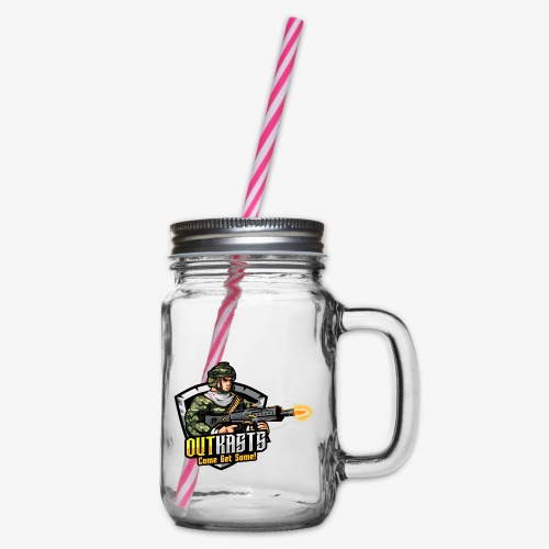 OutKasts [OKT] Logo 2 - Glass jar with handle and screw cap