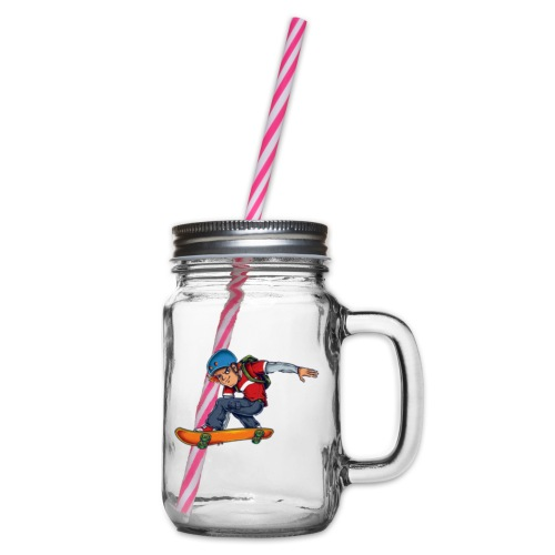 Skater - Glass jar with handle and screw cap