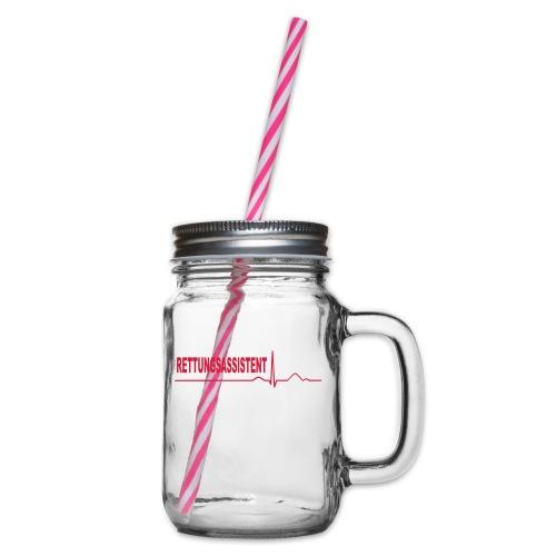 Rettungsassistent - Henkelglas mit Schraubdeckel