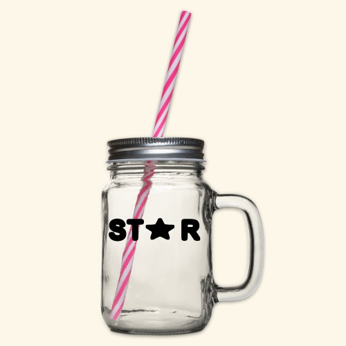Star of Stars - Glass jar with handle and screw cap