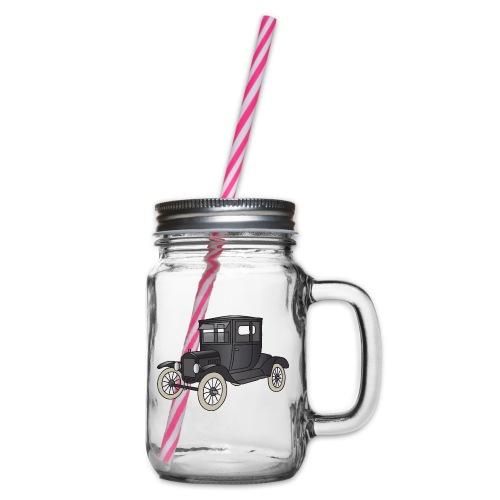 Modell T Oldtimer c - Henkelglas mit Schraubdeckel