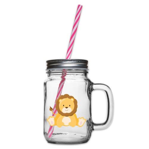 SAFARI Löwe - Henkelglas mit Schraubdeckel