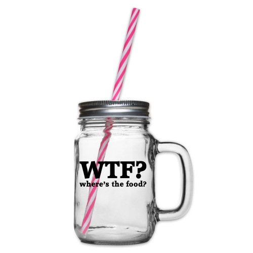 WTF - Where's the food? - Drinkbeker met handvat en schroefdeksel