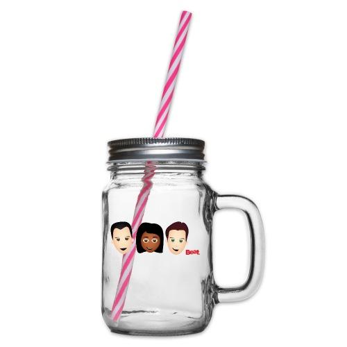 Beat Breakfast Teddy Bear - Glass jar with handle and screw cap