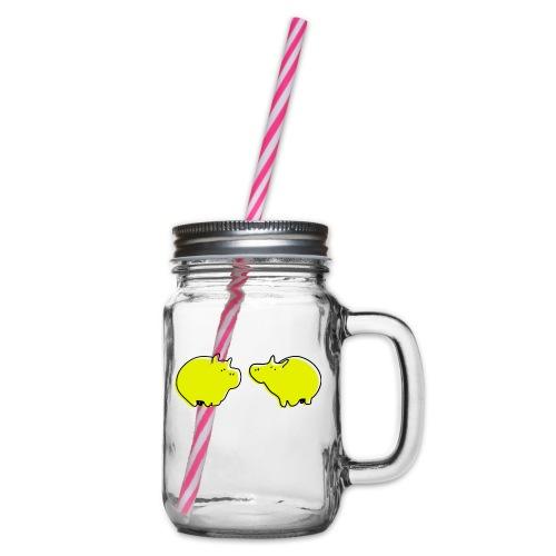 Cochons jaunes - Bocal à boisson