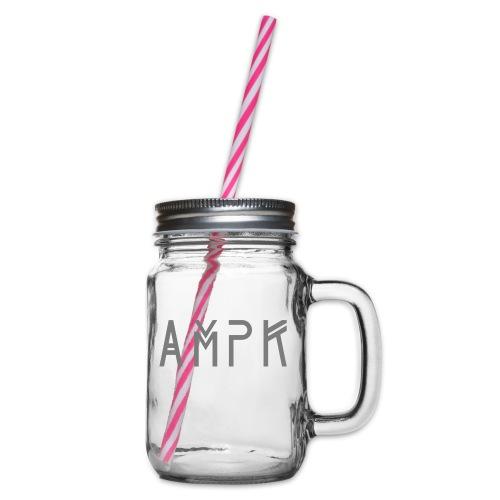 AMPKTechDarkGrey - Henkelglas mit Schraubdeckel