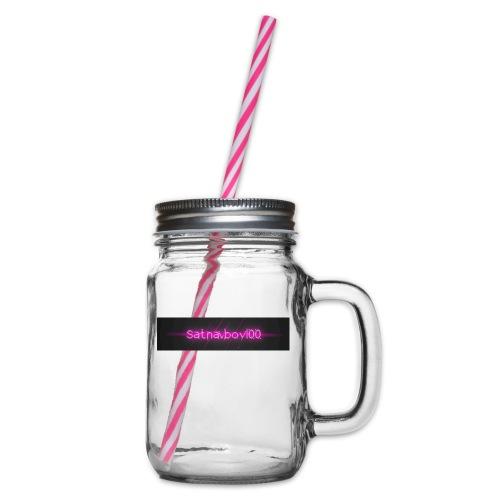 Satnavboy100 Shirt - Glass jar with handle and screw cap