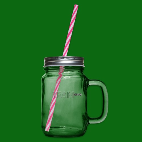 Team Glog - Glass jar with handle and screw cap