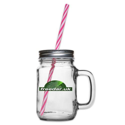 Freedar - Glass jar with handle and screw cap