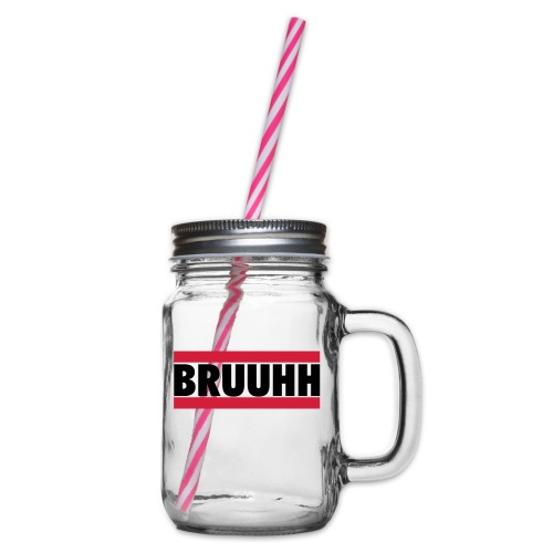 bruuhh - Glass jar with handle and screw cap