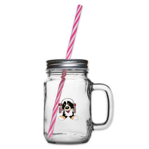 Bernerdrag - Glas med handtag och skruvlock