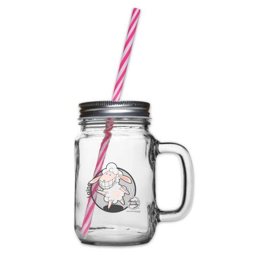 FF WOLLE 02 - Henkelglas mit Schraubdeckel