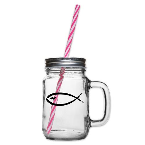 fish - Henkelglas mit Schraubdeckel
