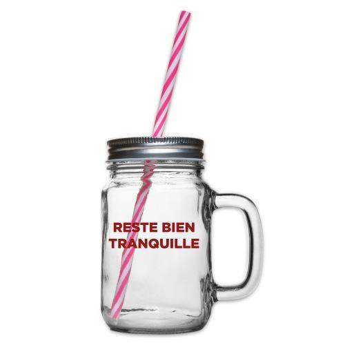 Logo Reste Bien rouge - Bocal à boisson