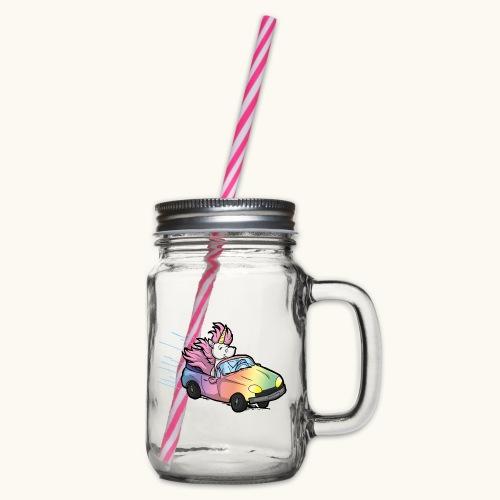 Licence drôle de pilote de voiture cadeau Licorne Bande dessinée - Bocal à boisson