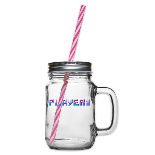 Arcade Game - Player 1 - Glass jar with handle and screw cap