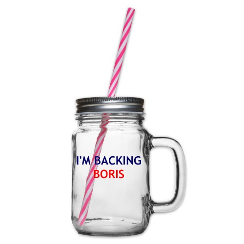 Backing Boris - Boxer Shirts - Glass jar with handle and screw cap