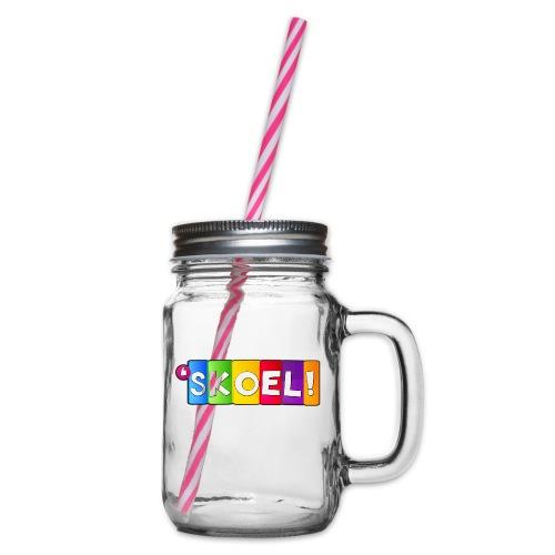 SKOEL merchandise - Drinkbeker met handvat en schroefdeksel