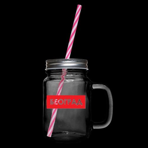 Beograd - Utoka - Henkelglas mit Schraubdeckel