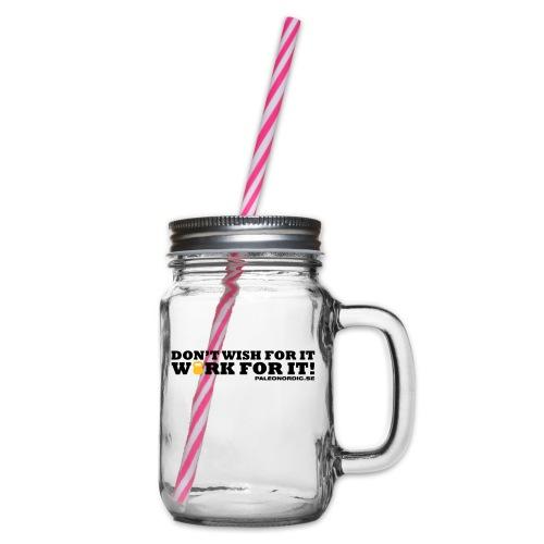 workforitsmal - Glas med handtag och skruvlock