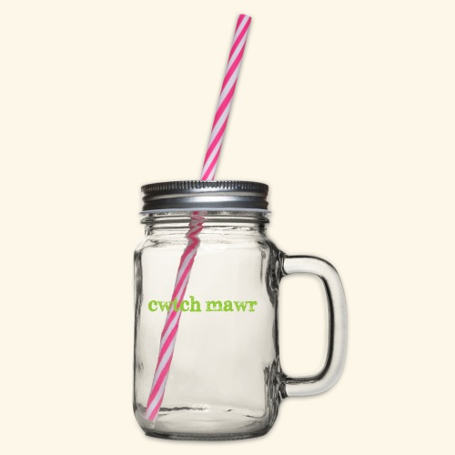 cwtchmawr1 - Glass jar with handle and screw cap