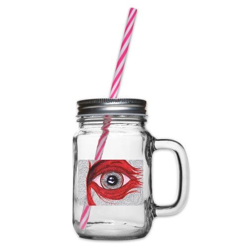 Auge - hypnotischer Blick - Henkelglas mit Schraubdeckel