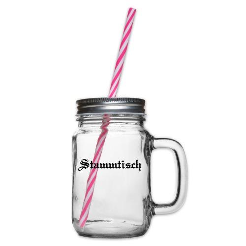 Stammtisch - Kickershirt - Henkelglas mit Schraubdeckel