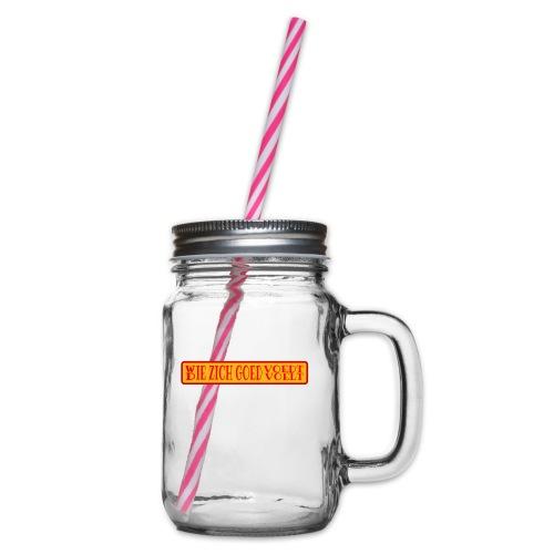 wie en die png - Glass jar with handle and screw cap