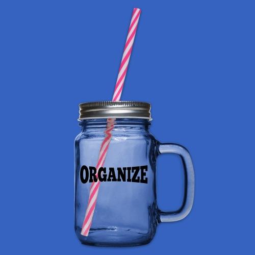Organize - Henkelglas mit Schraubdeckel