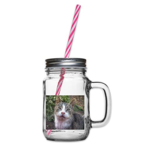 Katze Max - Henkelglas mit Schraubdeckel