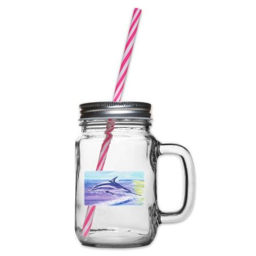 Engel der Meere - Henkelglas mit Schraubdeckel