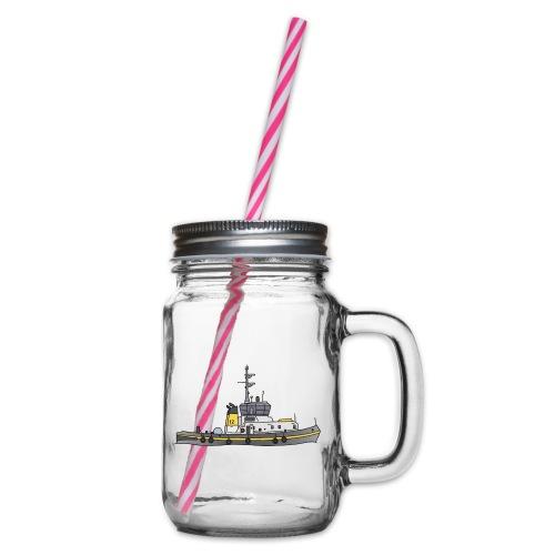 Schlepper Schleppschiff c - Henkelglas mit Schraubdeckel