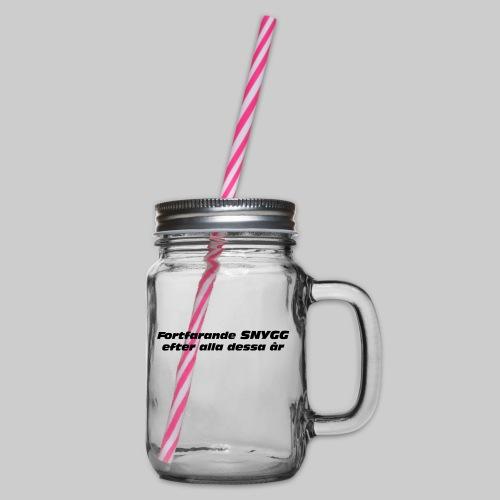 Fortfarande Snygg - Glas med handtag och skruvlock