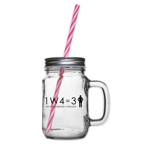 1W4 3L - Henkelglas mit Schraubdeckel