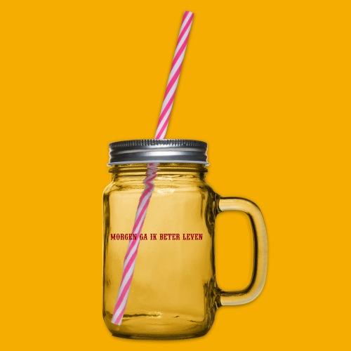 morgen beter leven - Drinkbeker met handvat en schroefdeksel