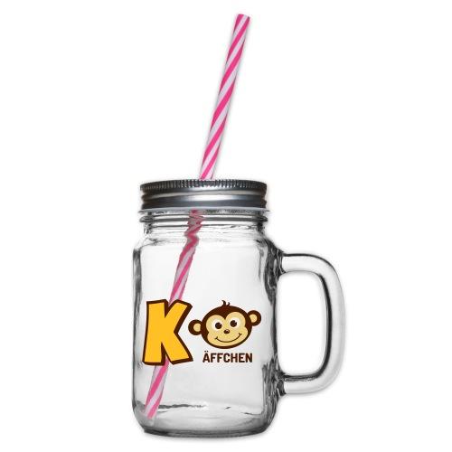KaffeeBoy - Henkelglas mit Schraubdeckel