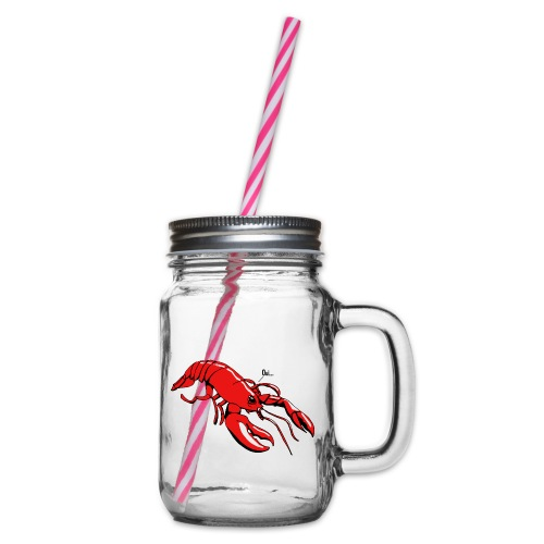 Lobster - Glass jar with handle and screw cap