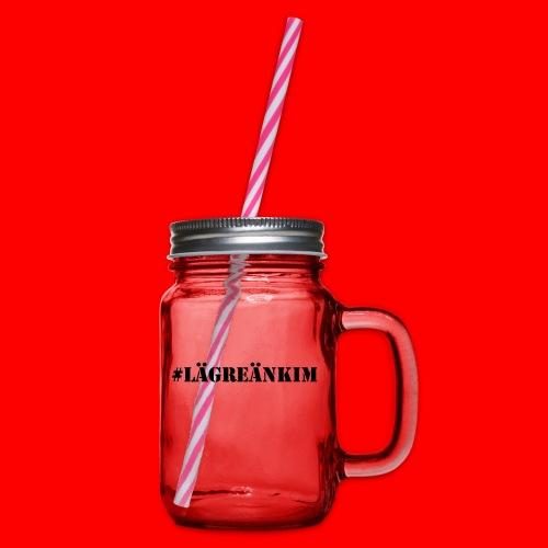 #lägreänkim - Glas med handtag och skruvlock