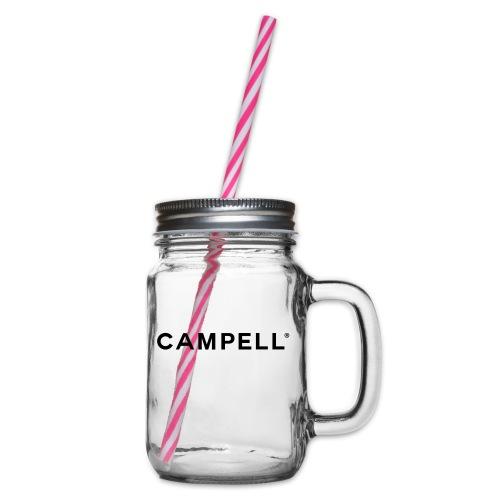 campell_schriftzug - Henkelglas mit Schraubdeckel