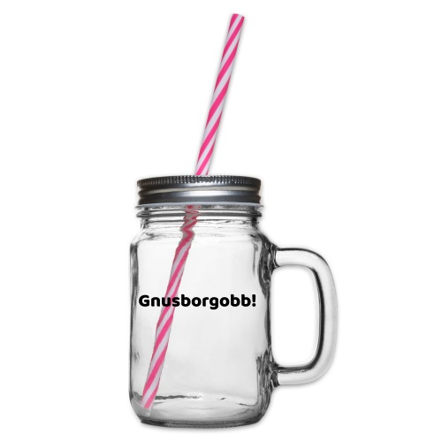 gnusborgobb - Henkelglas mit Schraubdeckel